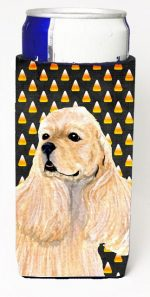 Carolines Treasures SS4315MUK Cocker Spaniel Candy Corn Halloween Portrait Michelob Ultra s For Slim Cans - 12 oz.