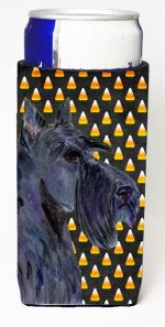 Carolines Treasures SS4322MUK Scottish Terrier Candy Corn Halloween Portrait Michelob Ultra s For Slim Cans - 12 oz.
