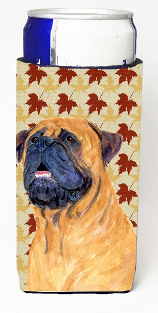 Carolines Treasures SS4336MUK Mastiff Fall Leaves Portrait Michelob Ultra s For Slim Cans - 12 oz.