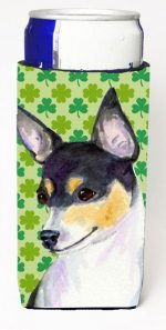 Carolines Treasures SS4449MUK Chihuahua St. Patricks Day Shamrock Portrait Michelob Ultra bottle sleeves For Slim Cans - 12 oz.