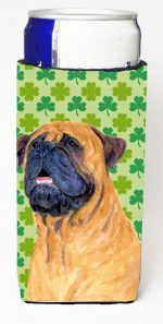 Carolines Treasures SS4451MUK Mastiff St. Patricks Day Shamrock Portrait Michelob Ultra bottle sleeves For Slim Cans - 12 oz.