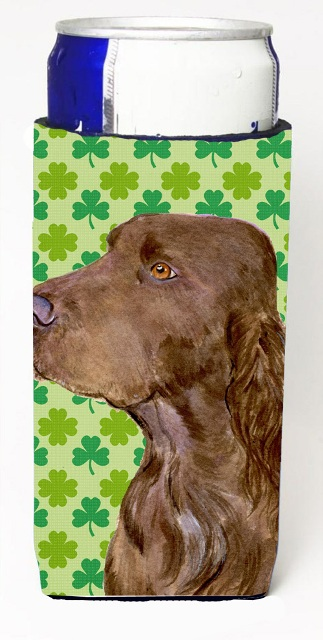Carolines Treasures SS4456MUK Field Spaniel St. Patricks Day Shamrock Portrait Michelob Ultra bottle sleeves For Slim Cans - 12 oz.