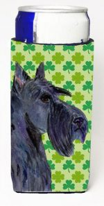 Carolines Treasures SS4460MUK Scottish Terrier St. Patricks Day Shamrock Portrait Michelob Ultra bottle sleeves For Slim Cans - 12 oz.