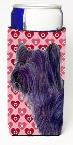 Carolines Treasures SS4463MUK Skye Terrier Hearts Love And Valentines Day Portrait Michelob Ultra bottle sleeves For Slim Cans - 12 oz.