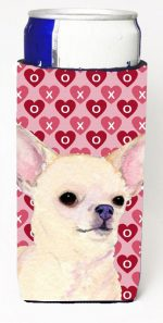 Carolines Treasures SS4472MUK Chihuahua Hearts Love And Valentines Day Portrait Michelob Ultra bottle sleeves For Slim Cans - 12 oz.