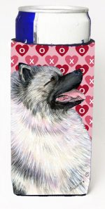 Carolines Treasures SS4488MUK Keeshond Hearts Love And Valentines Day Portrait Michelob Ultra bottle sleeves For Slim Cans - 12 oz.