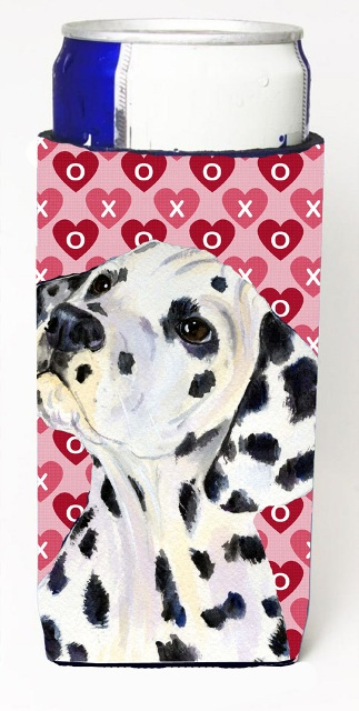 Carolines Treasures SS4492MUK Dalmatian Hearts Love And Valentines Day Portrait Michelob Ultra bottle sleeves For Slim Cans - 12 oz.