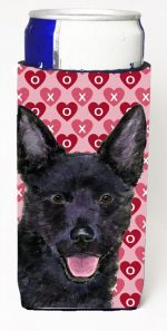 Carolines Treasures SS4498MUK Australian Kelpie Hearts Love Valentines Day Michelob Ultra bottle sleeves For Slim Cans - 12 oz.