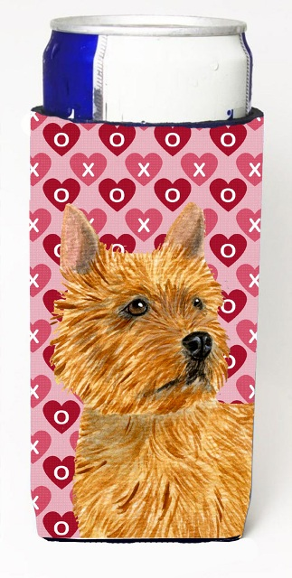 Carolines Treasures SS4499MUK Norwich Terrier Hearts Love And Valentines Day Portrait Michelob Ultra bottle sleeves For Slim Cans - 12 oz.