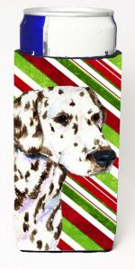 Carolines Treasures SS4538MUK Dalmatian Candy Cane Holiday Christmas Michelob Ultra s For Slim Cans - 12 oz.