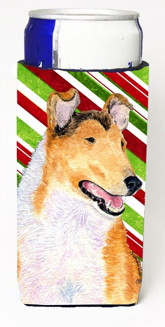 Carolines Treasures SS4539MUK Collie Smooth Candy Cane Holiday Christmas Michelob Ultra s For Slim Cans - 12 oz.