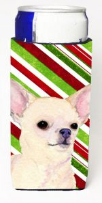 Carolines Treasures SS4541MUK Chihuahua Candy Cane Holiday Christmas Michelob Ultra s For Slim Cans - 12 oz.