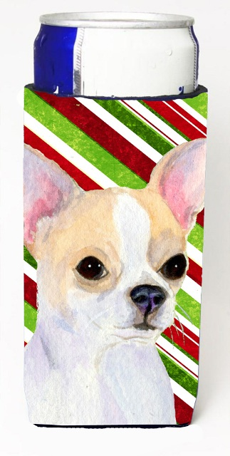 Carolines Treasures SS4543MUK Chihuahua Candy Cane Holiday Christmas Michelob Ultra s For Slim Cans - 12 oz.