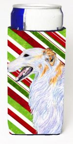 Carolines Treasures SS4544MUK Borzoi Candy Cane Holiday Christmas Michelob Ultra s For Slim Cans - 12 oz.