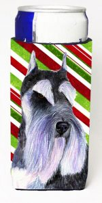 Carolines Treasures SS4546MUK Schnauzer Candy Cane Holiday Christmas Michelob Ultra s For Slim Cans - 12 oz.