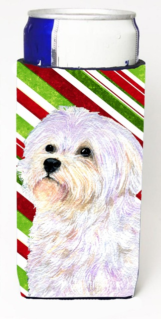 Carolines Treasures SS4550MUK Maltese Candy Cane Holiday Christmas Michelob Ultra s For Slim Cans - 12 oz.