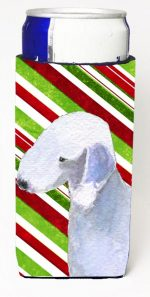 Carolines Treasures SS4552MUK Bedlington Terrier Candy Cane Holiday Christmas Michelob Ultra s For Slim Cans - 12 oz.