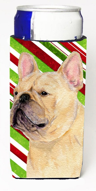 Carolines Treasures SS4554MUK French Bulldog Candy Cane Holiday Christmas Michelob Ultra s For Slim Cans - 12 oz.