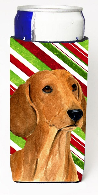 Carolines Treasures SS4556MUK Dachshund Candy Cane Holiday Christmas Michelob Ultra s For Slim Cans - 12 oz.
