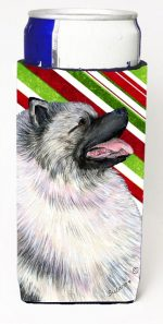 Carolines Treasures SS4557MUK Keeshond Candy Cane Holiday Christmas Michelob Ultra s For Slim Cans - 12 oz.