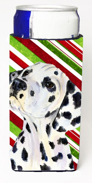Carolines Treasures SS4561MUK Dalmatian Candy Cane Holiday Christmas Michelob Ultra s For Slim Cans - 12 oz.