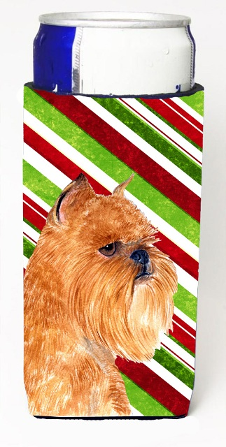 Carolines Treasures SS4563MUK Brussels Griffon Candy Cane Holiday Christmas Michelob Ultra s For Slim Cans - 12 oz.