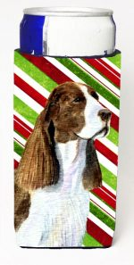 Carolines Treasures SS4582MUK Springer Spaniel Candy Cane Holiday Christmas Michelob Ultra s For Slim Cans - 12 oz.