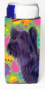 Carolines Treasures SS4808MUK Skye Terrier Easter Eggtravaganza Michelob Ultra bottle sleeves For Slim Cans - 12 oz.
