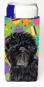 Carolines Treasures SS4856MUK Affenpinscher Easter Eggtravaganza Michelob Ultra bottle sleeves For Slim Cans - 12 Oz.