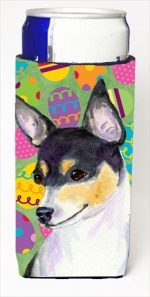 Carolines Treasures SS4863MUK Chihuahua Easter Eggtravaganza Michelob Ultra bottle sleeves For Slim Cans - 12 Oz.