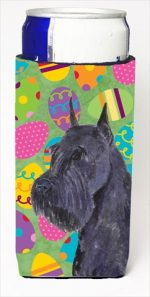 Carolines Treasures SS4868MUK Schnauzer Easter Eggtravaganza Michelob Ultra bottle sleeves For Slim Cans - 12 Oz.