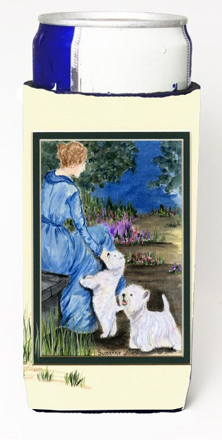 Carolines Treasures SS8021MUK Lady With Her Westie Michelob Ultra s For Slim Cans - 12 oz.