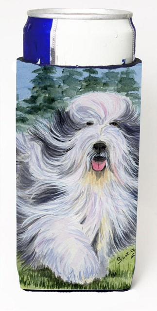 Carolines Treasures SS8037MUK Bearded Collie Michelob Ultra s For Slim Cans - 12 oz.