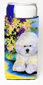 Carolines Treasures SS8295MUK Bichon Frise Michelob Ultra bottle sleeves For Slim Cans - 12 oz.