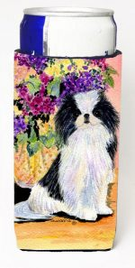 Carolines Treasures SS8299MUK Japanese Chin Michelob Ultra bottle sleeves For Slim Cans - 12 oz.