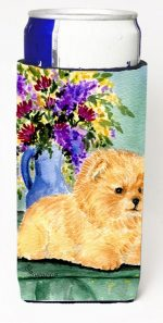 Carolines Treasures SS8302MUK Pomeranian Michelob Ultra bottle sleeves For Slim Cans - 12 oz.