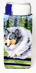 Carolines Treasures SS8305MUK Sheltie Michelob Ultra bottle sleeves For Slim Cans - 12 oz.