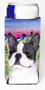 Carolines Treasures SS8339MUK Boston Terrier Michelob Ultra bottle sleeves For Slim Cans - 12 oz.