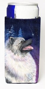 Carolines Treasures SS8350MUK Starry Night Keeshond Michelob Ultra bottle sleeves For Slim Cans - 12 oz.