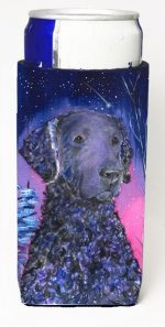 Carolines Treasures SS8354MUK Starry Night Curly Coated Retriever Michelob Ultra bottle sleeves For Slim Cans - 12 oz.