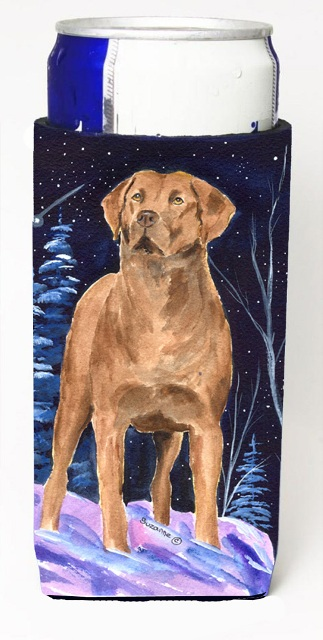 Carolines Treasures SS8355MUK Starry Night Chesapeake Bay Retriever Michelob Ultra bottle sleeves For Slim Cans - 12 oz.