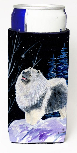 Carolines Treasures SS8357MUK Starry Night Keeshond Michelob Ultra bottle sleeves For Slim Cans - 12 oz.