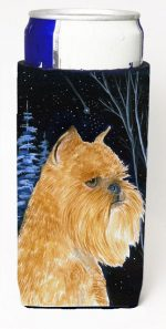 Carolines Treasures SS8362MUK Starry Night Brussels Griffon Michelob Ultra bottle sleeves For Slim Cans - 12 oz.