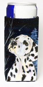 Carolines Treasures SS8370MUK Starry Night Dalmatian Michelob Ultra bottle sleeves For Slim Cans - 12 oz.