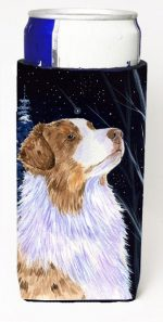 Carolines Treasures SS8375MUK Starry Night Australian Shepherd Michelob Ultra bottle sleeves For Slim Cans - 12 oz.