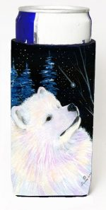 Carolines Treasures SS8376MUK Starry Night Samoyed Michelob Ultra bottle sleeves For Slim Cans - 12 oz.
