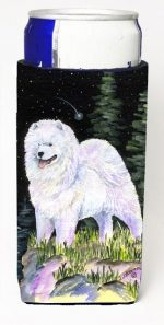 Carolines Treasures SS8498MUK Starry Night Samoyed Michelob Ultra bottle sleeves For Slim Cans - 12 oz.
