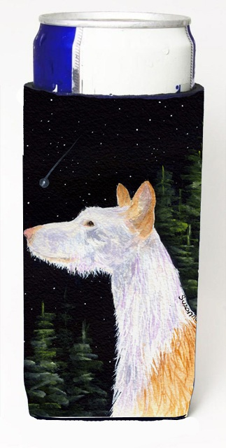 Carolines Treasures SS8499MUK Starry Night Ibizan Hound Michelob Ultra bottle sleeves For Slim Cans - 12 oz.
