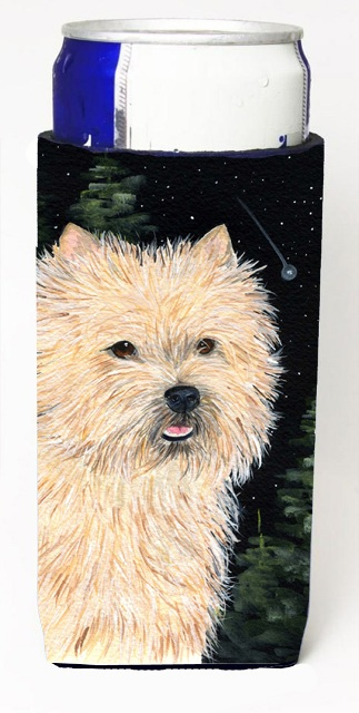 Carolines Treasures SS8502MUK Starry Night Cairn Terrier Michelob Ultra bottle sleeves For Slim Cans - 12 oz.