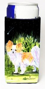 Carolines Treasures SS8516MUK Starry Night Chihuahua Michelob Ultra bottle sleeves For Slim Cans - 12 oz.